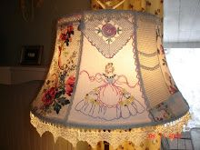 My Photo Site filled with the most adorable vintage hankies on lamp shades...and vintage linens