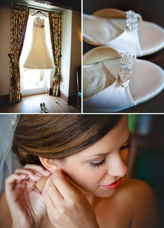 Bride getting ready for her Sea Island Wedding in the Cloister Black Banks Terrace Room.