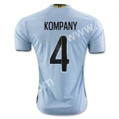 2016 European Cup Belgium KOMPANY Away Blue Thailand Jersey