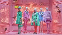 Les Galeries Lafayette x Gucci, August Paris by dailyshopwindow Visual Merchandising Displays, Visual Display, Display Design, Store Design, Galeries Lafayette, Lafayette Paris, Fashion Mannequin, Shop Window Displays, Window Design