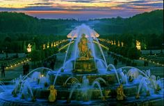 Fountains Show.JPG - Versailles gardens: Photo of Versailles Gardens Ticket: Summer Fountains Night Show and Fireworks with Optional Royal Serenade Dance Show by Viator user Anonymous Visit Versailles, Chateau Versailles, Versailles Garden, Palace Of Versailles, Statues, Hall Of Mirrors, France Travel, The Places Youll Go, Fireworks