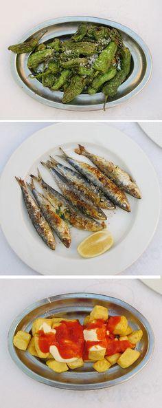 No puedo recordar el nombre de la comida que está en la tercera foto, pero lo comió en españa y recuerdo que lo me gusta mucho.