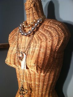 #Mannequin Dress Form Wicker  Vintage by ZassysTreasures on Etsy, $85.00
