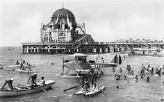 The Rotonda at the Ostia beach ...  in the twenties.   [ita]  http://www.romeandart.eu/it/arte-ostia-rotonda.html
