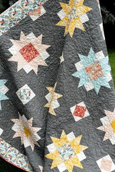 Moon Blossoms Quilt detail