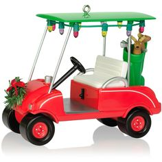 Season's Golfing Golf Cart Ornament.   Available: December 2015  $17.95