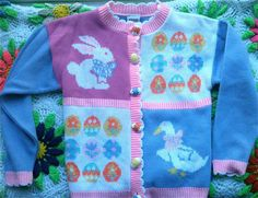 Novelty Easter Sweater by lishyloo on Etsy, $8.00