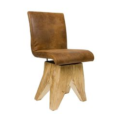 Leather Solid Wood Stool