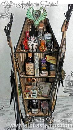 Alpha Stamps News » Coffin Apothecary and FLASH SALE on Glass Bottles!