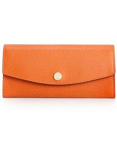 MICHAEL Michael Kors Handbag, Saffiano Large Slim Flap Wallet - Michael Kors Accessories - Handbags & Accessories - Macy's
