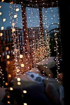 Section off parts of your patio with curtains of string lights from 1000Bulbs.com!