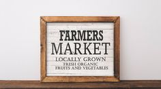 Farmers Market Sign, printable, farmers market, farmhouse printables, farmhouse decor, kitchen decor, kitchen signs, kitchen wall decor, art by PrintableRose on Etsy