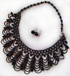 Wieczór naszyjnik .. - Dyskusja na temat LiveInternet Pamiętniki rosyjskie Serwis Online Gothic Jewelry, Diy Jewelry, Beaded Jewelry, Jewlery, Jewelry Making, Right Angle Weave, Round Design, Beading Projects, Collar Styles
