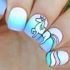 Beautiful Nails 2018 & The Best Nail Art Compilation Colorful Nail Designs, Nail Art Designs, Unicorn Nails Designs, Les Nails, Nagel Hacks, Unicorn Art, Magical Unicorn, Rainbow Unicorn, Manicure E Pedicure
