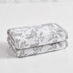 LOFT by Loftex Floral Block Jacquard Washcloth (set of 2)