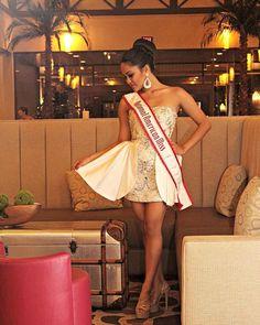 National American Miss Michaela Abelgas emceed the FASC White Party Fashion Show! #NAM