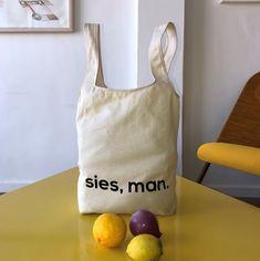 SIES, MAN. SHOPPER – MEVROU & CO. Plastic Free July, Clean Beach, Afrikaans, Cotton Canvas, Reusable Tote Bags, Fashion, Moda, Fashion Styles, Afrikaans Language