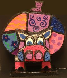 Art with Ms. Lloyd: Finished Romero Britto Sculptures