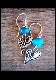 jewelry: Turquoise Heart Earrings | Western Jewelry