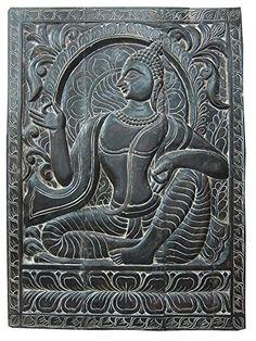"Chakra Decor Lord Buddha Decorative Hand Carved Wood Door Panel India 36"" X 36"" Mogul Interior http://www.amazon.com/dp/B00OLFML4S/ref=cm_sw_r_pi_dp_1dqqub0SYX9YJ"