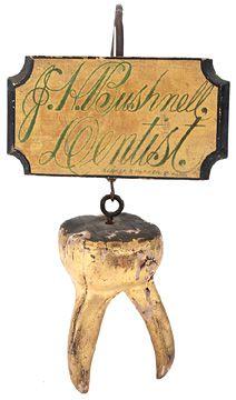 Vintage Dentist Trade Sign