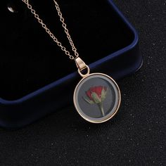 Little Prince Rose Flowers Necklaces & Pendants For Women Dried Flowers Plant Specimen Glass Rose Glod Color Necklace Fo Cute Jewelry, Jewelry Accessories, Women Jewelry, Resin Jewelry, Crystal Jewelry, Rose Necklace, Pendant Necklace, Pendant Jewelry, Love Store