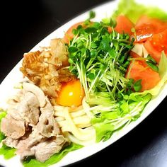 麺つゆでさっぱり(●´ω`●) - 9件のもぐもぐ - サラダうどん by merlv0e