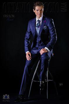 Costume de mariage bleu de pur laine Ottavio Nuccio Gala 11df89e2db6