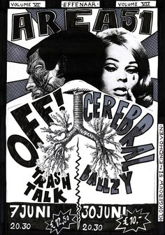 Poster for 2 shows I'm going to. OFF!, Trash Talk & Cerebral ballzy