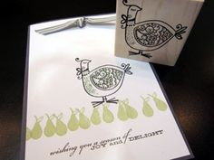Partidge in a Pear Tree card idea - Impress