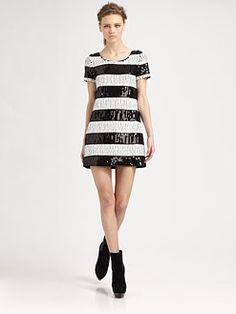 Rachel Zoe - Karolina Striped Sequin Dress