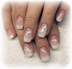 Bride Nails, Prom Nails, Wedding Nails, French Manicure Designs, Cute Nail Designs, Winter Nail Art, Winter Nails, French Nails, Cute Nails