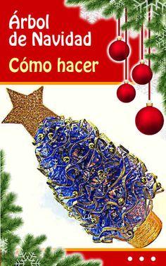 Adornos navideños. Árbol de Navidad. Cómo hacer. Manualidades fáciles #arbol #arboldenavidad #diy #Navidad