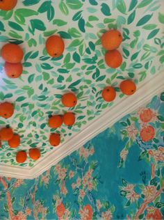 Consider the ceiling on pinterest painted ceilings for Kitchen colors with white cabinets with lilly pulitzer wall art
