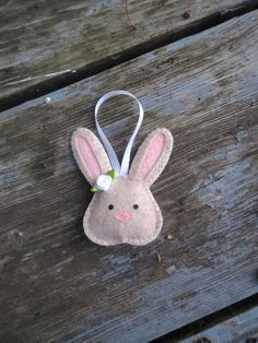 Felt Bunny Rabbit Ornament by AmandasCraftyNiche on Etsy