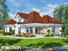 projekt Dom pod juką 4 Stylizacja 4 Bungalow Style House, Home Fashion, Sweet Home, Mansions, Architecture, House Styles, Modern Houses, Home Decor, Projects