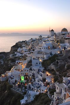 Santorini Greece located  in the South Aegean sea and part of the Cyclades Islands. Intriguing history, awesome volcanic landscape, cosmopolitan atmosphere,  breathtaking sunsets, deep blue sea.  Fira, Oia, Imerovigli are just some of the villages that are built into the cliffs with magnificent view of the Aegean sea, the volcano and the nearby islands of Ios, Folegandros and Sikinos.