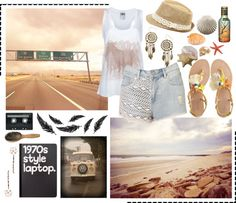 """Beach Hunt Road Trip"" by lovefromerin ❤ liked on Polyvore"