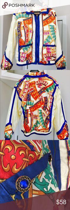 Colorful 80s Vintage Windbreaker 1980's  vintage windbreaker - Bruno Mars-esque - unisex - fits men's size S/M and women's size M/L - excellent condition Rock Creek Jackets & Coats
