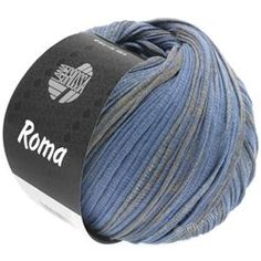 Lana Grossa ROMA/ROMA Degradè - Precious, subtle structured cotton ribbon 100 % Cotton Yardage: approx 105 m (115 yd) / 50 g Needle size: 5 - 6