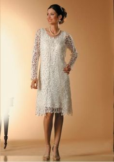 Tea length mom of bride dress