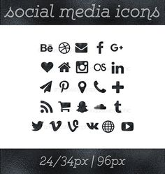 social media icons black foil icons black button social icons website icons blog icons resume icons business card icon social button - Social Media Icons For Business Cards