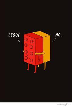 I'll never Lego! Cute doodles and artwork.