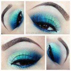 TINAMARIEONLINE: Blue and Green Makeup & Tutorial