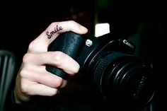 Smile Finger Tattoo @Liz Mayfield for your next one! :)
