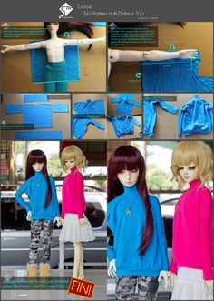 5th Atelier Tutorial: No-Pattern Half-Dolman Top by Ylden.deviantart.com on @deviantART