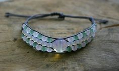 Bracelet Moonstone Rose Quartz and Green Aventurine 3 by TriouZ, £14.79