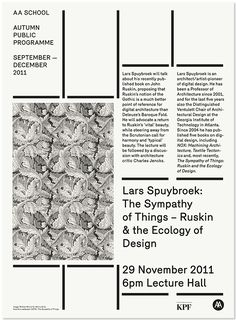 AA LECTURE POSTERS 2011/12