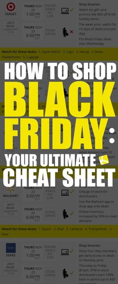 Black Friday 2019 shopping tips? Learn when the best times to shop online and in-store are, what stores to shop on Black Friday, and what products are best buys per store. Use this cheat sheet to get all the Black Friday deals in Black Friday 2019, Black Friday Shopping, Black Friday Deals, Best Black Friday Sales, Online Shopping, Shopping Hacks, Pumpkin Recipes, Fall Recipes, Shops