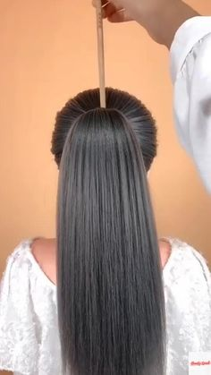 Bun Hairstyles For Long Hair, Braided Hairstyles, Hair Up Styles, Natural Hair Styles, Stylish Short Hair, Hair Videos, Hair Looks, Hair Makeup, Hair Cuts